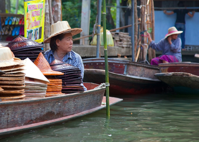 World travel photos Thailand floating market